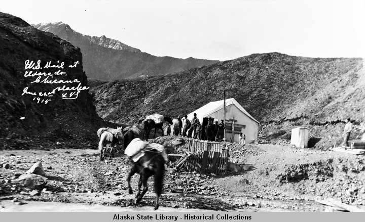 U. S. Mail at Eldorado, Chisana, Alaska, June 22, 1915.